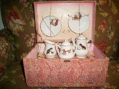 Antique French child's tea set