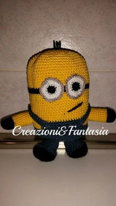 #uncinetto #crochet #amigurumi #handmadewithlove #handmade #handmadeinitaly #fattoamano #artigianatoitaliano #creazioniefantasia  #picoftheday #madeinitaly #artigianato #fattoamanoconamore #accessori #accessories #minion #minions