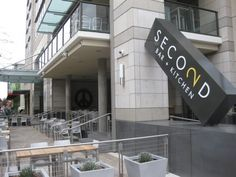 Second Bar + Kitchen in Austin, TX. Recommended: spiced roasted nuts; black truffle pommes frites; black and bleu pizza.