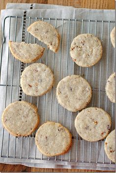 Pecan Sandies: 1 cup cake flour  1/2 cup butter  1/4 cup sugar  1 tsp. vanilla extract  1/2 cup chopped pecans