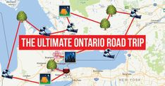 This Map Will Take You On The Most Epic Road Trip Through Ontario Anyone's Ever Been On - - Cancel all your plans, you have new ones. Rv Travel, Canada Travel, Outdoor Travel, Travel Destinations, Canada Trip, Travel Gadgets, Travel List, Travel Hacks, Road Trip Map