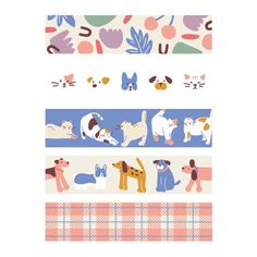 Friends masking seal paper deco sticker set by Dailylike. Five cute designs that will look lovely on your planner, notebooks, journal and DIY projects! Printable Stickers, Cute Stickers, Wash Tape, Korean Stickers, Posca Art, Digital Journal, Journal Stickers, Aesthetic Stickers, Note Paper