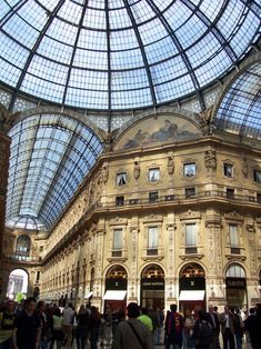 The Galleria Vittorio Emanuele II in Milan:  The famous Galleria Vittorio Emanuele II is considered the living room of Milan. It was built in the first half of XIX century and its style looked at the urban evolutions of the great European capitals.
