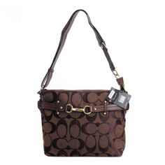 Coach Legacy Logo Signature Medium Coffee Crossbody Bags DZT Are In Good Quality And Low Price For You!