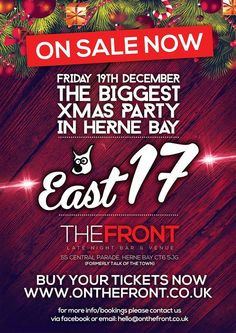 East 17 Live in Herne Bay at The Front Late Night Bar & Venue on Friday 19th December 2014