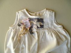 Refashioned Vintage Girls Dress. Shabby Chic by ProvencalMarket