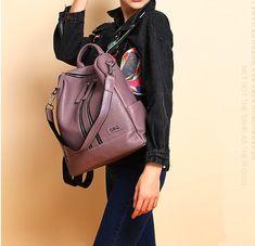 Leather Backpack Tote Laptop Shoulder Bag