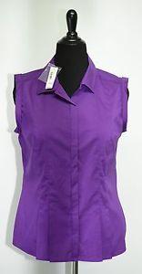 Worthington Sz L Purple Sleeveless Top Sexy Shirt Blouse Violet Button Up NWTags | eBay