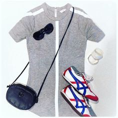 Saturday style. Casual #sportychic. In collaboration with @traybay14 Dion Lee T-shirt dress, sneakers with a pop of colour... tres cool.  #dionlee #saturdaystyle #custommadeshoes #vietnam #fendibag #sportychic #melbournestyle #lookbook  #elegance #fashionista  #ootd  #pursuepretty #personalfashionstylist #thatsdarling #flashesofdelight #flatlay #stylist #melbournestylist #luxelook