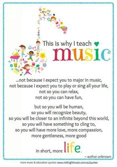 why the anonymous music teacher does his / her work - and how ALL of us benefit ...