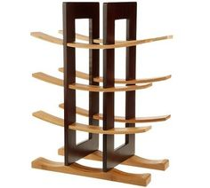 Gorgeous two-tone wooden wine rack. #bamboo #winerack #wine
