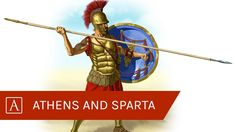 Learn all about the similarities and differences of the Greek City-States, Athens and Sparta! This short comparison with Kelly Macquire discusses the important differences between Athens and Sparta during the height of their power. Athens And Sparta, Spartan Shield, History Encyclopedia, Classical Period, Similarities And Differences, History Education, City State, Ancient Greece, Captain America