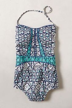 printed one piece from @Anthropologie