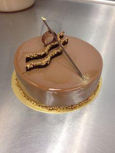 Milk chocolate glaze entremet  #nlc #pastries #normanloveconfections
