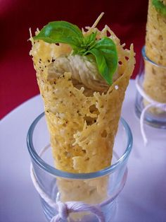 Parmesan Cones with White Bean Mousse