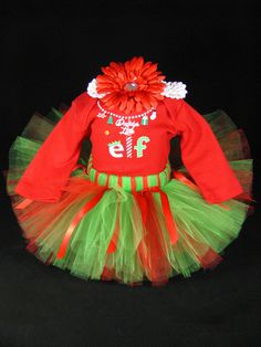 Baby Girl 1st Christmas Outfit Babys by EleventhHourDesigns, $38.00