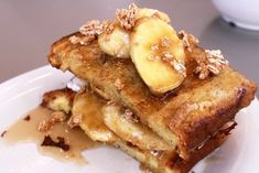 Cream Cheese French Toast with Caramelized Bananas