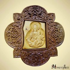 Art Wood Carving Madonna and Child Jesus