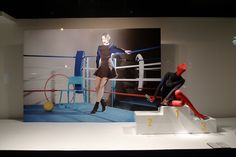 Printemps Olympics windows, Paris visual merchandising