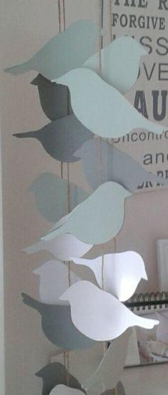 Papiergirlande Vögel - paper garland birds