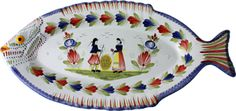 Quimper fish platter - we have one that belonged to my grandmother. Heaven!