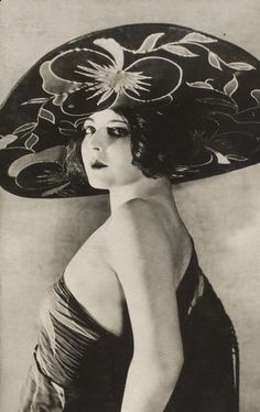 Marion Benda and her amazing hat  C. 1920s