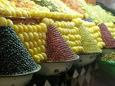 Meknes Market, Morocco - the purple ones are my favorite,