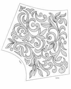 images attach c 4 81 552 Hand Work Embroidery, Hand Embroidery Stitches, Hand Embroidery Designs, Beaded Embroidery, Machine Embroidery, Tambour Beading, Pencil Design, Couture Embroidery, Pattern Drafting