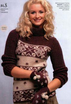 Джемпер с варежками | Вязание и рукоделие