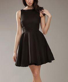 Loving this Black A-Line Sleeveless Dress on #zulily! #zulilyfinds