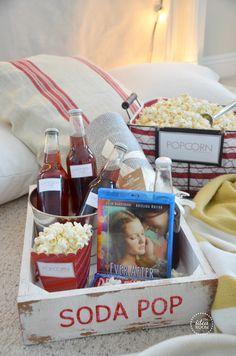 Movie-Night-Gift-Basket | theidearoom.net