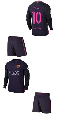 low priced ed035 f79f4 barcelona 10 lionel messi sec away long sleeves youth kids ...