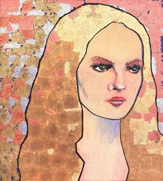 This is a painting of vanessa paradis by johnny depp