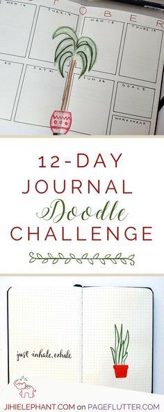 Fun journal doodle challenge for your Bullet Journal, planner, art journal, or sketchbook!