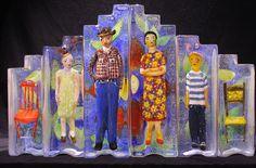 Stephanie Trenchard, sand cast glass.