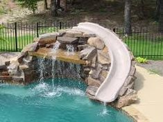 inground swimming pools with slides - Google Search