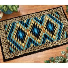 Pueblo Latch Hook Rug Kit Craftways Http://www.amazon.com/
