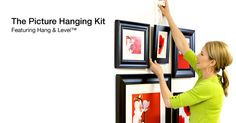 Hang & Level Picturing Hanging Tool Kit, saw this in Real Simple and wished I'd had it when we moved into our house!