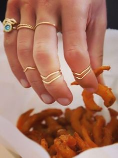 Chevron Knuckle Rings <3