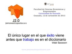 """Presentación de Jamones Abuxarra en la charla-coloquio con alumnos/as de la asignatura de """"Creación de empresas"""" de la Facultad de Ciencias Económicas y Empresariales de la Universidad de Granada."""