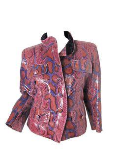vintage YSL snakeskin jacket