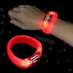 """Red 8"""" Lighted LED Bangle Bracelet #usppromotionals"""