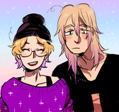 """more pastel goth whatevers. I love how chill Matt is with all this and James is like, """"What is this, the 4th wall?"""" (This isn't mine, but I didn't see a pin option, and it was too good to not pin, please let me know who the artist is) 2p America, America And Canada, Hetalia, 2p Canada, Red Velvet Pancakes, Pastel Goth Art, Pin Pics, Me Me Me Anime, Super Cute"""