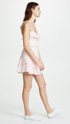 13a692e7b25292 For Love & Lemons Dixie Ruffled Mini Dress | SHOPBOP Gingham Dress, Dress  Cuts,