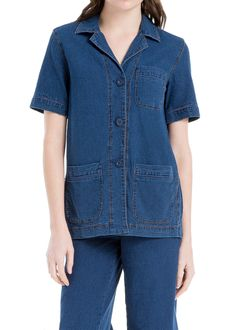 b79b3d97b378a Indigo Shirt - Casual-luxe utilitarian and indispensable  if you wear this  softly washed