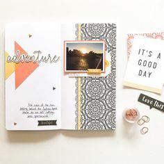 Adventure Traveler's Notebook Spread by Mandy Melville | @FelicityJane