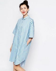 Buy Monki Oversized Gingham Shirt Dress at ASOS. With free delivery and return options (Ts&Cs apply), online shopping has never been so easy. Get the latest trends with ASOS now. Smart Outfit, Asos, Long Shirt Dress, Plaid Fashion, Loose Shirts, Going Out Dresses, Latest Dress, Shopping, Clothes For Women
