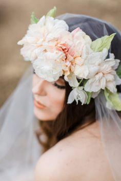 Photo shoot hair accessory custom colors flower crown bridal silk spring flower crowns from mignonne handmade mightylinksfo