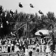 A popular ride was the ferris wheel, very small by todays standards. Zapp's Park, Fresno. 1912. (Original article has a gallery of larger size photos.)