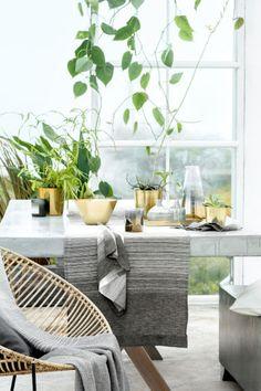 Sengesæt og dynebetræk - H&M Home Outdoor Spaces, Outdoor Chairs, Outdoor Living, Outdoor Furniture Sets, Outdoor Decor, Ceramica Exterior, Grands Pots, Scandi Chic, Hm Home